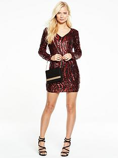 v-by-very-all-over-animal-sequin-bodyconnbspdress