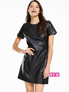 v-by-very-leather-a-line-dress