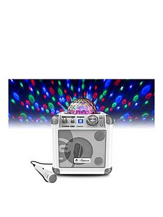 idance-sing-cube-in-white-bluetooth-karaoke-system-with-bult-in-light-show