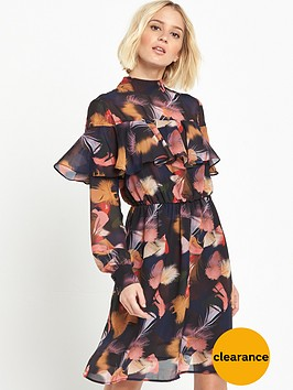lost-ink-lost-ink-alicia-frill-amp-feather-dress