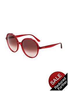 valentino-round-sunglasses-red