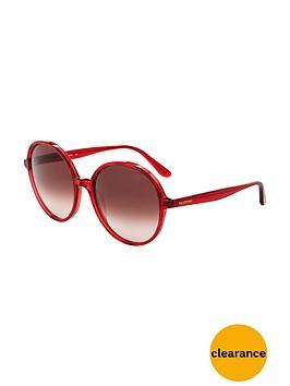 valentino-round-sunglasses-red