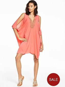 v-by-very-embellished-batwingnbspbeach-dress
