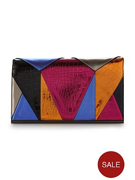 v-by-very-patchwork-metallic-clutch