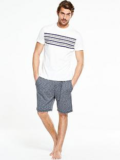 v-by-very-short-sleeve-chest-stripe-pj-set