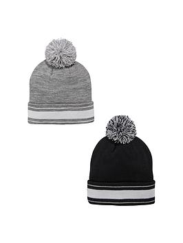 v-by-very-2-pk-sports-stripe-beanie