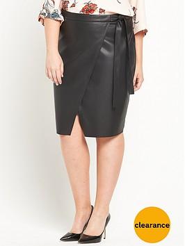 ri-plus-leather-look-wrap-mini-skirt