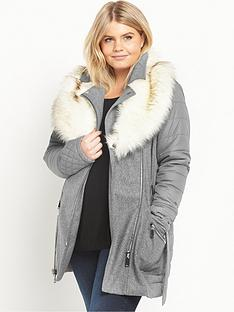 ri-plus-faux-fur-collar-padded-coat