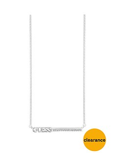 guess-rhodium-plated-bar-necklace
