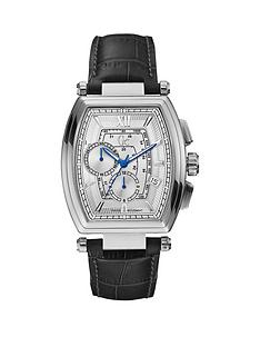 guess mens watches gifts jewellery very co uk guess gc retro glass leather strap mens watch