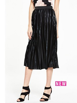 v-by-very-wet-look-pleated-skirt