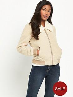 river-island-faux-fur-collar-fleece-bomber-jacket
