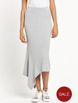 river-island-ribbed-skirt-with-asymmetric-hem