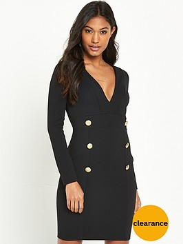 river-island-river-island-black-long-sleeve-button-through-dress