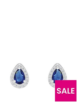 love-gem-sterlingnbspsilver-blue-and-white-cubic-zirconianbsppeardropnbspstud-earrings