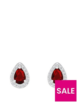 love-gem-sterlingnbspsilver-red-and-white-cubic-zirconianbsppeardropnbspstud-earrings