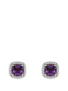 love-gem-9ctnbspyellow-gold-amethyst-and-diamond-set-earrings