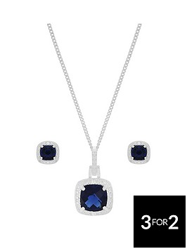 love-gem-sterling-silver-blue-and-white-cubic-zirconianbspcushion-cut-necklace-and-earring-set