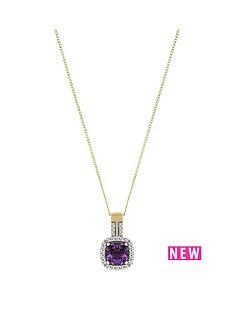 love-gem-9ctnbspyellow-gold-amethyst-and-diamond-set-pendant