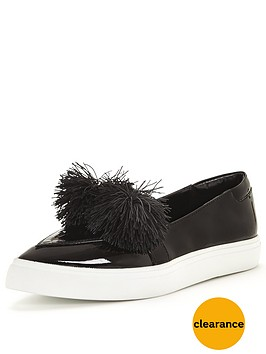 lost-ink-toni-pom-pom-point-plimsoll-black