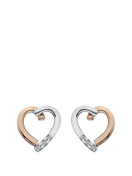 hot-diamonds-sterling-silver-and-rose-gold-plated-heart-earrings