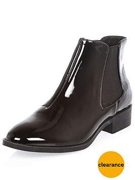 river-island-patent-point-ankle-bootnbsp