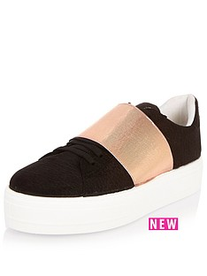 river-island-metallic-strip-trainer