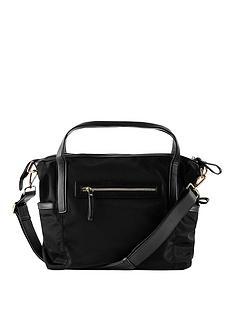 babybeau-sophia-black-canvas-changing-bag