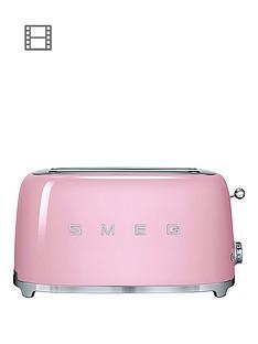 smeg-tsf02-4-slice-toaster-pink