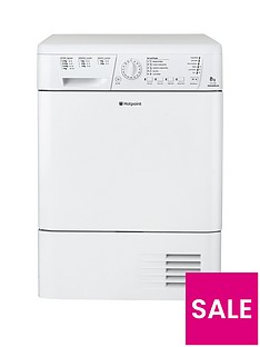Hotpoint Aquarius TCHL780BP 8kg Sensor Condenser Tumble Dryer - White