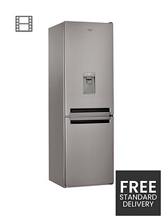 Whirlpool Supreme No Frost BSNF8451OXAQUA 60cm Fridge Freezer - Stainless Steel