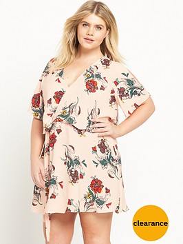 ri-plus-cold-shoulder-floral-print-dress