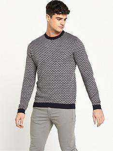 river-island-zag-zag-knitted-jumper