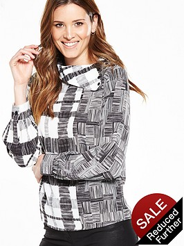v-by-very-roll-collar-blouse