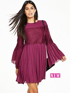 v-by-very-lace-insert-swing-dress