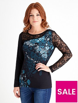 joe-browns-mystical-lace-sleeve-top