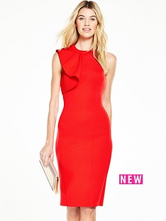 v-by-very-ponte-ruffle-pencil-dress