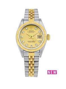rolex-bimetal-datejust-original-champagne-diamond-dial-ladies-watch-pre-owned-including-paperwork