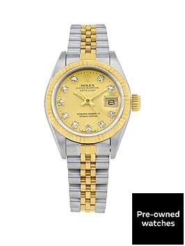 rolex-bimetal-datejust-original-champagne-diamond-dial-ladies-watch-pre-owned-including-paperwork