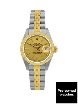 rolex-bimetal-datejust-champagne-dial-ladies-watch-pre-ownednbspincluding-paperwork