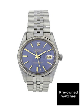 rolex-steel-datejust-blue-dial-with-gold-batons-gents-watch-pre-owned-including-paperwork