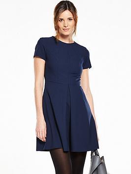 v-by-very-short-sleeve-pleat-front-skater-dress