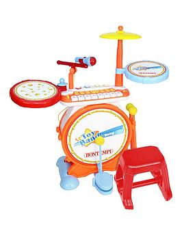 bontempi-electronic-drum-set-with-keyboard-and-stool