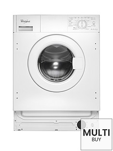 Whirlpool AWOA6122 Built-In 6kg Load, 1200 Spin Washing Machine - White