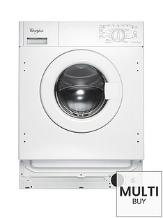 Whirlpool AWOA7123 Built-In 7kg Load, 1200 Spin Washing Machine - White