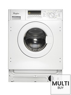 Whirlpool AWOE7143 Built-In 7kg Load, 1400 Spin Washing Machine - White