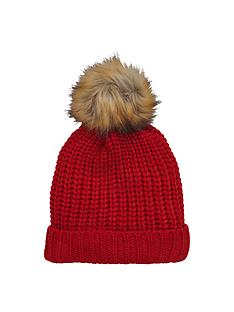 v-by-very-chunky-knit-fur-pom-pom-beanie-hat