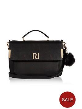 river-island-pom-pom-medium-satchel