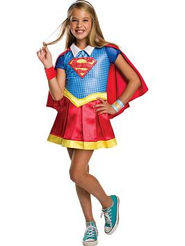 Photo of Dc super hero girls dc superheroes deluxe supergirl child costume
