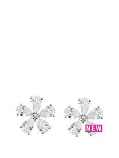 anne-klein-silver-tone-cubic-zirconianbspflower-stud-earrings